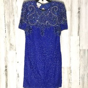 Vintage Stenay Beaded Gown Size 12 Petite